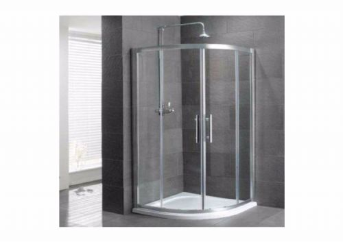 Vulcan 800mm Quadrant Shower Enclosure, 1850mm High, Polished Silver 69.0001